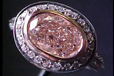 SOLD.....Halo Ring- GIA1.68ct Oval Cut Fancy Light Pink-Brown Diamond Ring R1167
