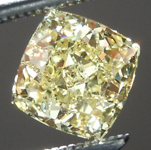 SOLD.... Loose Yellow Diamond: .92ct Fancy Yellow VS1 Princess Cut GIA Cool Cut R5607