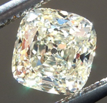 SOLD...Loose Yellow Diamond: .68ct U-V Internally Flawless Cushion Cut GIA Cool Cut R5654