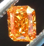 SOLD...Loose Orange Diamond: .17ct Fancy Deep Yellowish Orange VS2 Radiant Cut GIA Amazing Color R5637