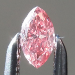SOLD....Loose Pink Diamond: .11ct Fancy Intense Orangy Pink SI1 Marquise GIA Pretty in Pink R5578