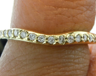 SOLD.....Diamond Wedding Band: .18ctw E-F VS Round Brilliant Curved Diamond Wedding Band Special Price R4679