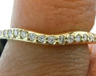 SOLD.....Diamond Wedding Band: .18ctw E-F VS Round Brilliant Curved Diamond Wedding Band Special Price R4679