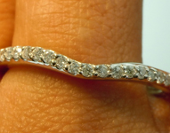 SOLD...Diamond Wedding Ring: .25ctw E-F VS Round Brilliant  Diamond Wedding Band Special Price R5368
