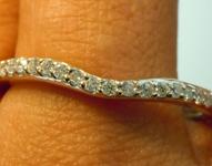 SOLD...Diamond Wedding Ring: .25ctw E-F VS Round Brilliant  Diamond Wedding Band Special Price R5368