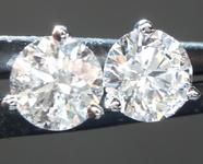 SOLD....Colorless Diamond Earrings: 1.01ctw F-G I1 Round Brilliant Diamond Martini Stud Earrings R5628