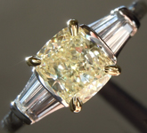 SOLD...Yellow Diamond Ring: 1.09ct Y-Z VVS2 Cushion Cut Diamond Ring GIA R5657