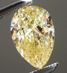 SOLD...Loose Yellow Diamond: 1.01ct Fancy Intense Yellow SI1 Pear Shape GIA Lovely Shape R5701