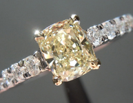 SOLD.....Yellow Diamond Ring: .66ct Y-Z VS1 Cushion Cut GIA Diamond Shank R5653