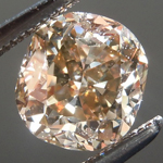 SOLD... Loose Brown Diamond: 1.11ct Fancy Yellow Brown VS1 Cushion Cut Great Sparkle R5754