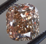 SOLD...Loose Brown Diamond: 1.01ct Fancy Yellow Brown VS1 Cushion Cut Rich Color R5755