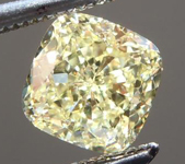 SOLD.... Loose Yellow Diamond: .70ct Fancy Light Yellow Internally Flawless Cushion Cut GIA R5774