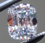 SOLD... Colorless Diamond: .48ct D SI1 Cushion Cut GIA Looks Blue! R5694