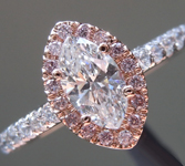 SOLD... Colorless Diamond Ring: .43ct E VS1 Marquise GIA Pink Diamond Halo Ring R5732