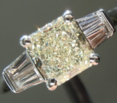 SOLD...Yellow Diamond Ring: 1.21ct N VS1 Radiant Cut GIA Trade Up Special R1954