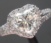 Colorless Diamond Ring: 1.11ct I VS2 Heart Shape GIA Split Shank Halo Ring R5551