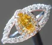 0.27ct Intense Orange Yellow I1 Pear Diamond Ring R5782