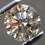 SOLD..Loose Brown Diamond: 1.26ct O-P Very Light Brown SI2 Round Brilliant GIA Cool Stone R5734