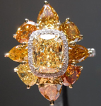 SOLD....Yellow Diamond Ring: 1.08ct Fancy Yellow VS2 Cushion Cut GIA Uber Ring R5805
