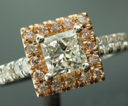 Colorless Diamond Ring: .53ct E Internally Flawless Princess Cut Diamond Halo Ring GIA R5801
