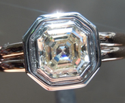 SOLD...Colorless Diamond Ring: 1.19ct K VVS2 Asscher Cut GIA Bezel Set Ring R5822