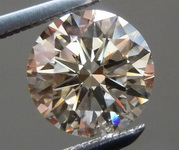 SOLD...Loose Brown Diamond: 1.18ct U-V Light Brown VS1 Round Brilliant GIA Awesome value R5813