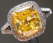 SOLD....Yellow Diamond Ring: 2.25ct Fancy Vivid Yellow SI1 GIA Uber Halo Ring R5804