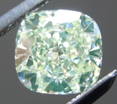 SOLD....Loose Green Diamond: .86ct Fancy Light Green Yellow VS2 Cushion Cut GIA Great Color R5831