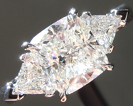 Colorless Diamond Ring: 1.54ct H SI1 Cushion Modified Brilliant Three Stone Diamond Ring R5848