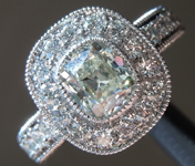 Colorless Diamond Ring: 1.02ct J VS2 Old Mine Brilliant GIA Platinum Halo R5857