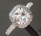 SOLD...Colorless Diamond Ring: .84ct F VS2 Old Mine Brilliant Diamond Halo Ring GIA R5863