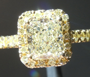 Yellow Diamond Ring: 1.25ct U-V SI1 Radiant Cut GIA Yellow Diamond Halo R5830