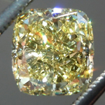 SOLD...Loose Yellow Diamond: 1.41ct Fancy Yellow VVS2 Cushion Cut GIA Strong Color R5899