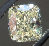 SOLD.... Loose Yellow Diamond: .55ct Y-Z VVS1 Cushion Cut GIA Great Sparkle R5906