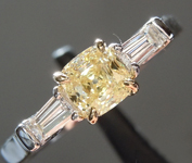 0.53ct Y-Z VS1 Cushion Cut Diamond Ring R5907