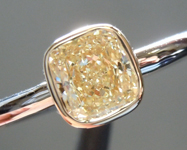 SOLD.....Yellow Diamond Ring: .70ct W-X SI1 Cushion Cut Diamond Ring GIA R5905