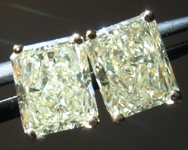 SOLD...Yellow Diamond Earrings: 2.26ctw Y-Z SI1 Radiant Cut Diamond Stud Earrings R5888