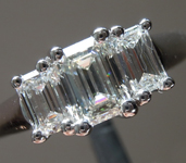 SOLD.....Colorless Diamond Ring: 1.03ctw H VS2-SI1 Emerald Cut Three Stone Diamond Ring R5791