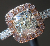 SOLD.....Diamond Ring: 1.04ct J SI1 Cushion Cut GIA Pink Diamond Halo R5854