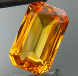 SOLD.....Loose Sapphire: 3.88ct Orange Emerald Cut Sapphire Gorgeous Stone R5954