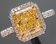 SOLD....1.74ct Fancy Light Yellow VS1 Radiant Cut Diamond Ring R5961