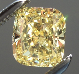 SOLD.....Loose Yellow Diamond: .72ct Fancy Intense Yellow I1 Cushion Cut GIA Eye Clean R5713