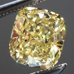 SOLD....Loose Yellow Diamond: .93ct Fancy Intense Yellow I1 Cushion Cut GIA Great Cut R5705