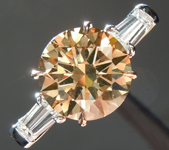 Brown Diamond Ring: 2.15ct Fancy Yellow Brown Round Brilliant Diamond Ring GIA R5934