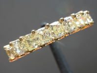 SOLD.....Yellow Diamond Ring: 2.00ctw Fancy Light Yellow Radiant Cut Diamond Band R5143