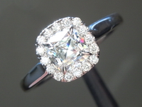 Colorless Diamond Ring: .72ct G SI1 Old Mine Brilliant Diamond Halo Ring R5960