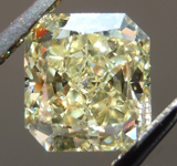 Loose Yellow Diamond: 1.60ct Fancy Light Yellow VS1 Radiant Cut GIA Beautiful Cut R6035