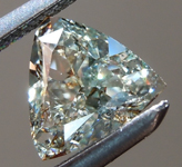 SOLD........Loose Green Diamond: .52ct Fancy Gray-Green I1 Trilliant GIA Cool Stone R6044