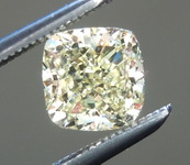 SOLD....Loose Yellow Diamond: .90ct Fancy Light Yellow VS1 Cushion Modified Brilliant GIA Beautiful Cut R5785