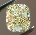 SOLD.....Loose Yellow Diamond: 1.23ct Fancy Light Yellow VS2 Cushion Cut GIA Amazing Sparkle R6057